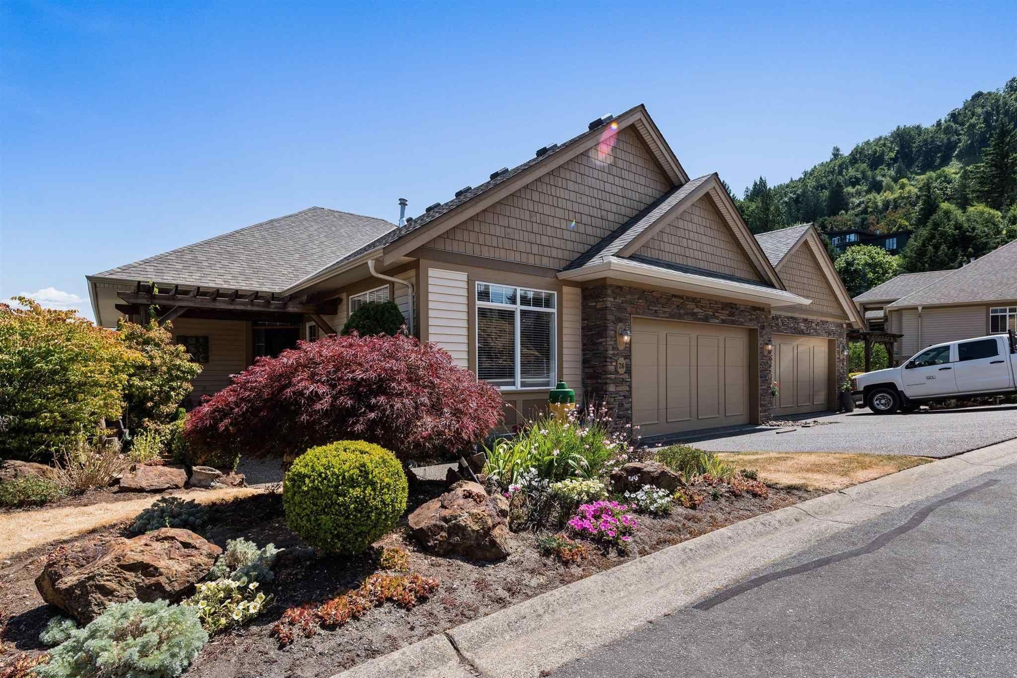 "Main Photo: 26 43777 CHILLIWACK MOUNTAIN Road in Chilliwack: Chilliwack Mountain 1/2 Duplex for sale in ""Westpointe"" : MLS®# R2605171"