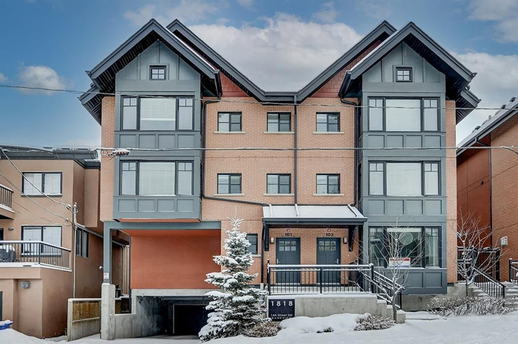 Main Photo: 101 1818 14A Street SW in Calgary: Bankview Row/Townhouse for sale : MLS®# A1066829