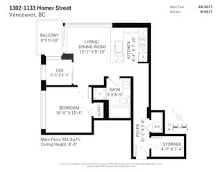 Photo 20: 1302 1133 HOMER STREET in Vancouver: Yaletown Condo for sale (Vancouver West)  : MLS®# R2613033