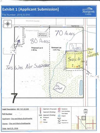 Photo 9: 57202 Hwy 44: Rural Sturgeon County Rural Land/Vacant Lot for sale : MLS®# E4226796