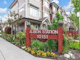 """Photo 1: 109 10151 240 Street in Maple Ridge: Albion Townhouse for sale in """"Albion Station"""" : MLS®# R2578071"""