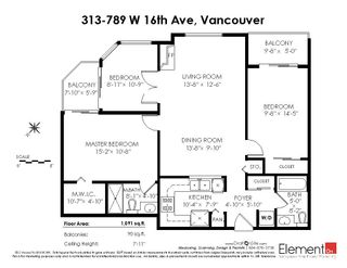 """Photo 20: 313 789 W 16TH Avenue in Vancouver: Fairview VW Condo for sale in """"SIXTEEN WILLOWS"""" (Vancouver West)  : MLS®# R2354520"""