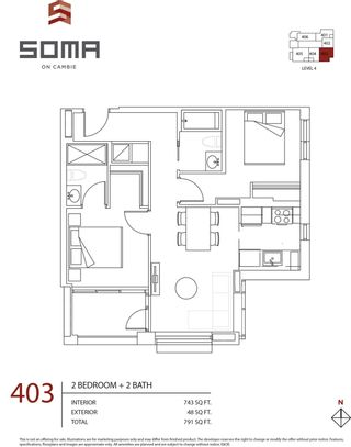 """Photo 23: 403 7777 CAMBIE Street in Vancouver: Marpole Condo for sale in """"SOMA"""" (Vancouver West)  : MLS®# R2606613"""