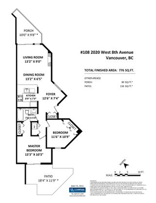 Photo 24: 108 2020 W 8 AVENUE in Vancouver: Kitsilano Townhouse for sale (Vancouver West)  : MLS®# R2585715