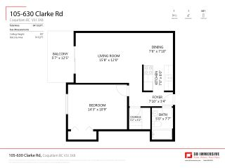 "Photo 23: 105 630 CLARKE Road in Coquitlam: Coquitlam West Condo for sale in ""King Charles Court"" : MLS®# R2534603"