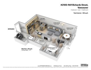 """Photo 15: 2105 969 RICHARDS Street in Vancouver: Downtown VW Condo for sale in """"Mondrian II"""" (Vancouver West)  : MLS®# R2603346"""