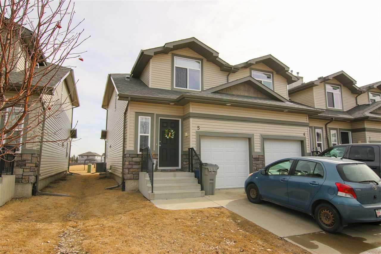 Main Photo: 5 9511 102 Avenue: Morinville Townhouse for sale : MLS®# E4236034