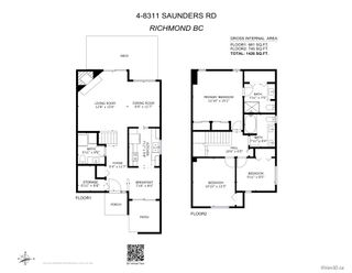 """Photo 38: 4 8311 SAUNDERS Road in Richmond: Saunders Townhouse for sale in """"Heritage Park"""" : MLS®# R2603000"""