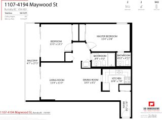 """Photo 34: 1107 4194 MAYWOOD Street in Burnaby: Metrotown Condo for sale in """"PARK AVENUE TOWERS"""" (Burnaby South)  : MLS®# R2541535"""