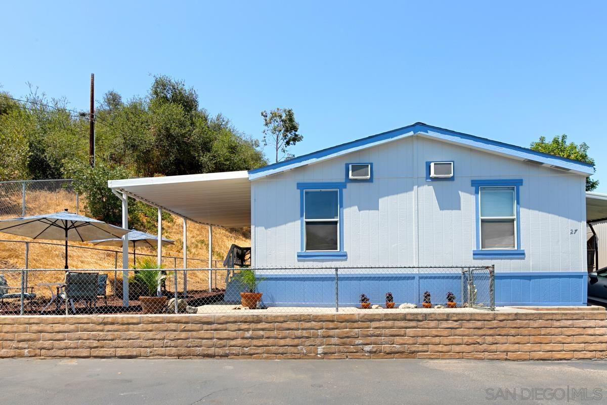 Main Photo: EL CAJON Mobile Home for sale : 3 bedrooms : 14291 Rios Canyon #27