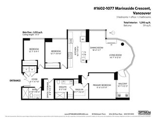 """Photo 40: 1602 1077 MARINASIDE Crescent in Vancouver: Yaletown Condo for sale in """"Marinaside Resort Residences"""" (Vancouver West)  : MLS®# R2592823"""