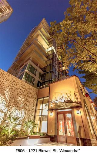 """Photo 1: 806 1221 BIDWELL Street in Vancouver: West End VW Condo for sale in """"Alexandra"""" (Vancouver West)  : MLS®# R2019706"""