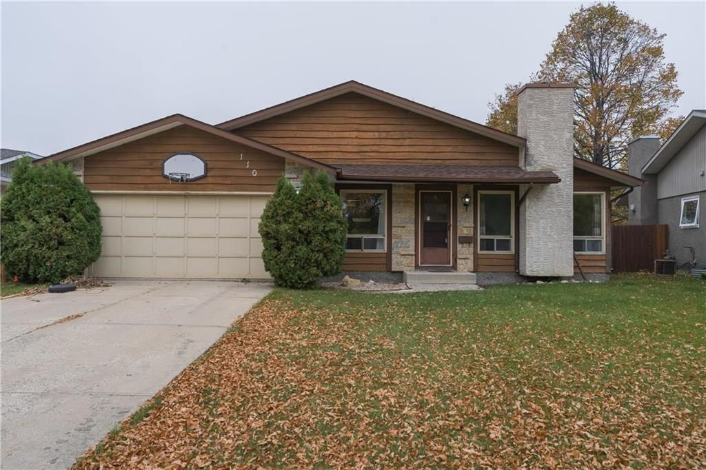 Main Photo: 110 Syracuse Crescent in Winnipeg: Waverley Heights Residential for sale (1L)  : MLS®# 202124302