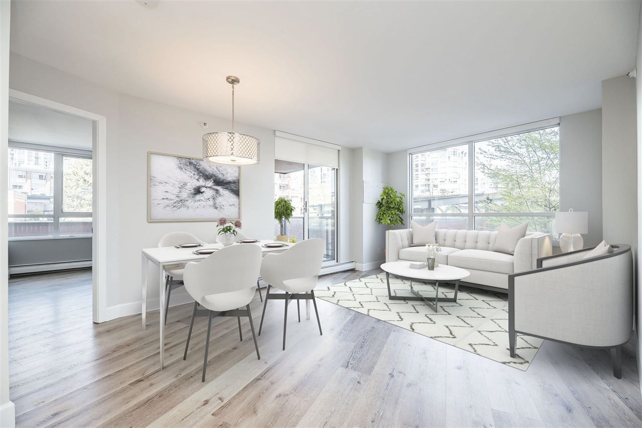 """Main Photo: 3E 199 DRAKE Street in Vancouver: Yaletown Condo for sale in """"CONCORDIA 1"""" (Vancouver West)  : MLS®# R2590785"""