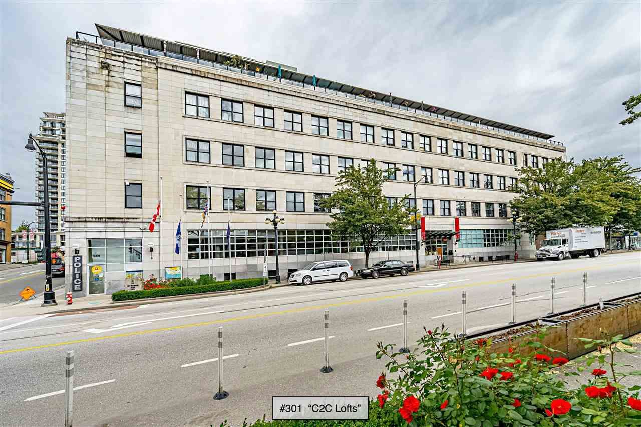 """Main Photo: 301 549 COLUMBIA Street in New Westminster: Downtown NW Condo for sale in """"C2C Lofts"""" : MLS®# R2590758"""