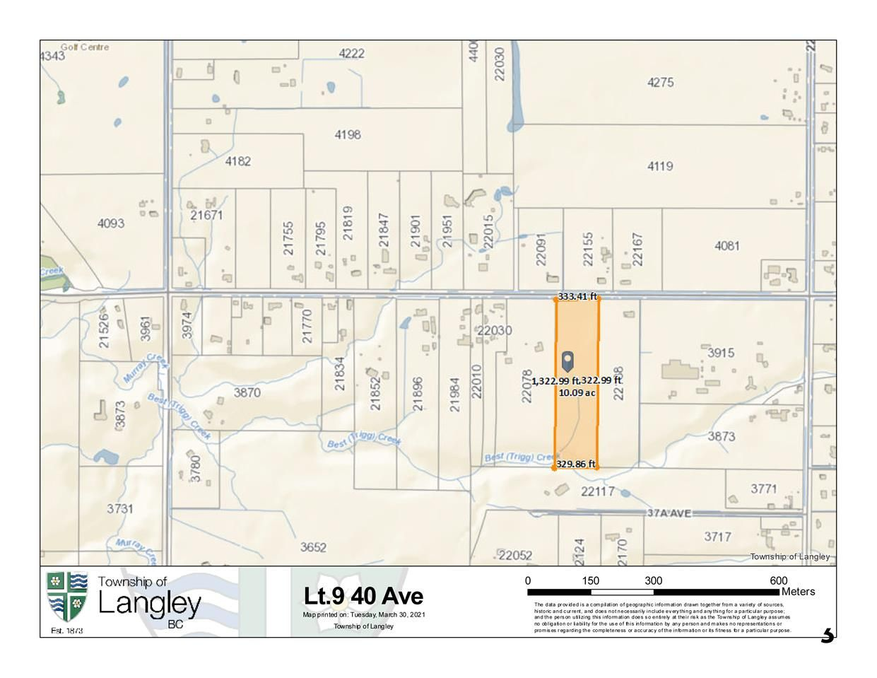 Main Photo: LOT 9 40 Avenue in Langley: Brookswood Langley Land for sale : MLS®# R2561661