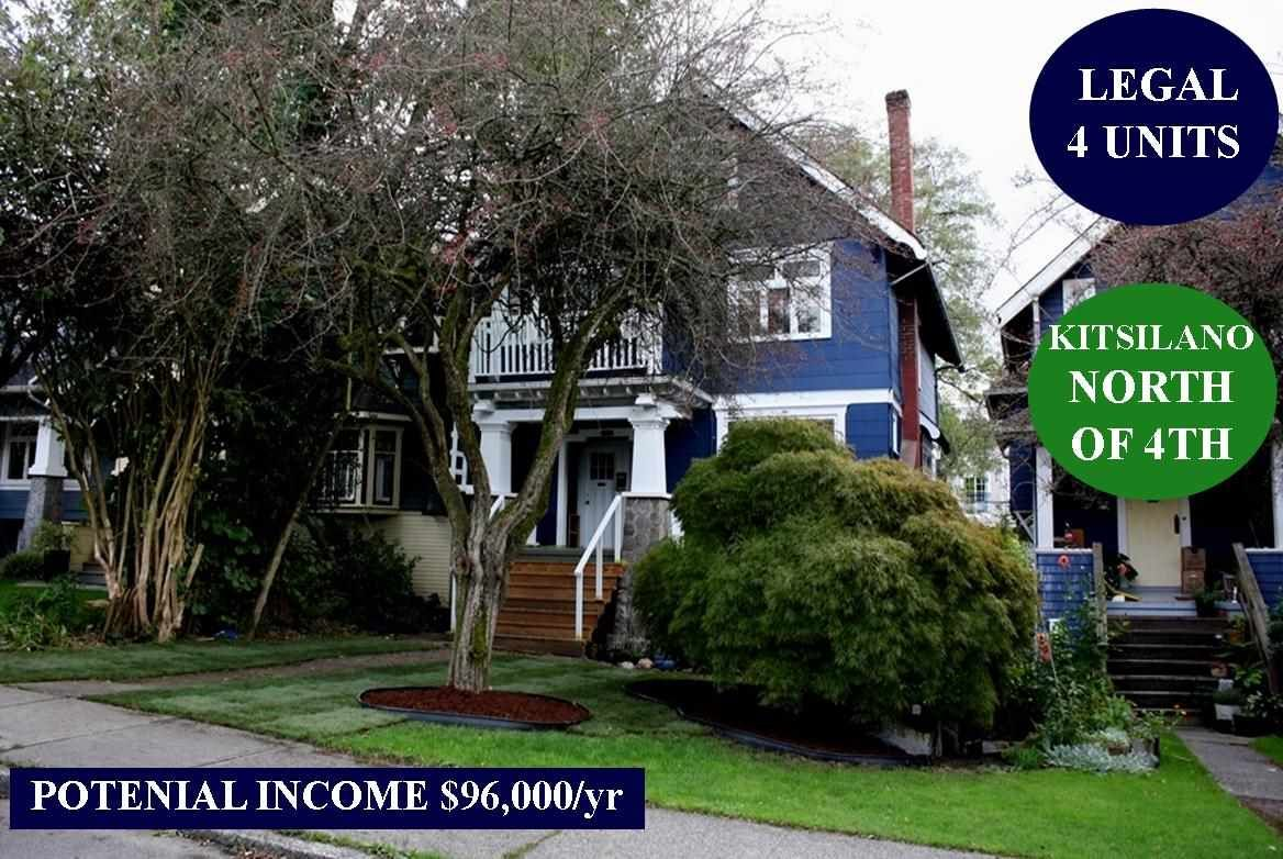 Main Photo: 3624 W 3RD Avenue in Vancouver: Kitsilano House for sale (Vancouver West)  : MLS®# R2463734