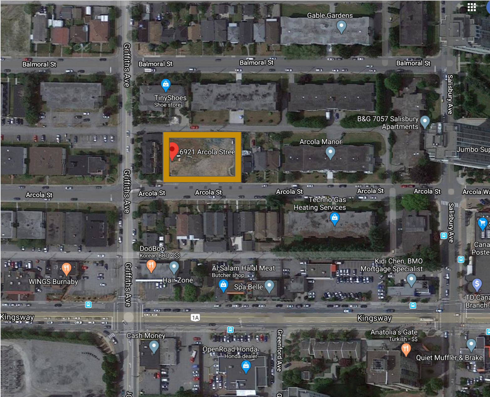 Main Photo: 6921 Arcola Street in Burnaby: Highgate Land Commercial for sale (Burnaby South)