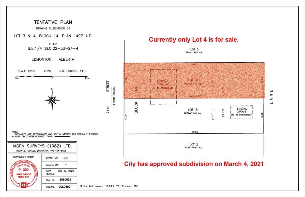 Main Photo: 12811 71 Street in Edmonton: Zone 02 Vacant Lot for sale : MLS®# E4234294