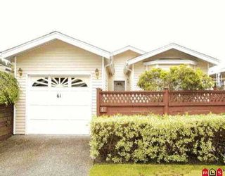 """Photo 1: 61 1400 164TH ST in White Rock: King George Corridor House for sale in """"Gateway Gardens"""" (South Surrey White Rock)  : MLS®# F2610262"""