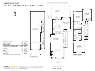 """Photo 20: 113 2000 PANORAMA Drive in Port Moody: Heritage Woods PM Townhouse for sale in """"MOUNTAINS EDGE"""" : MLS®# R2261425"""