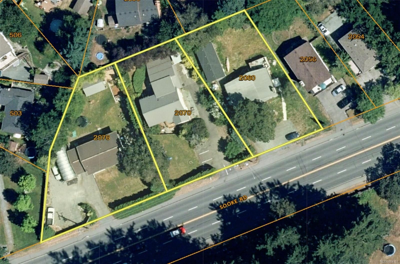 Main Photo: 2076 Sooke Rd in : Co Hatley Park Unimproved Land for sale (Colwood)  : MLS®# 884101
