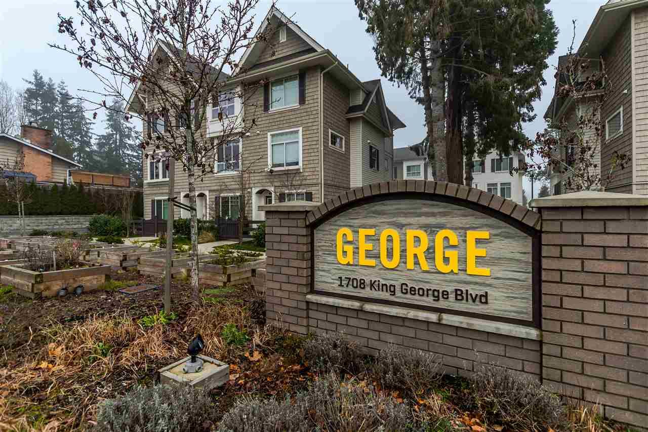 """Main Photo: 16 1708 KING GEORGE Boulevard in Surrey: King George Corridor Townhouse for sale in """"George"""" (South Surrey White Rock)  : MLS®# R2229813"""