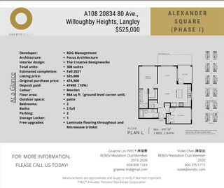 """Photo 6: A108 20834 80 Avenue in Langley: Willoughby Heights Condo for sale in """"Alexander Square Phase 1"""" : MLS®# R2536033"""