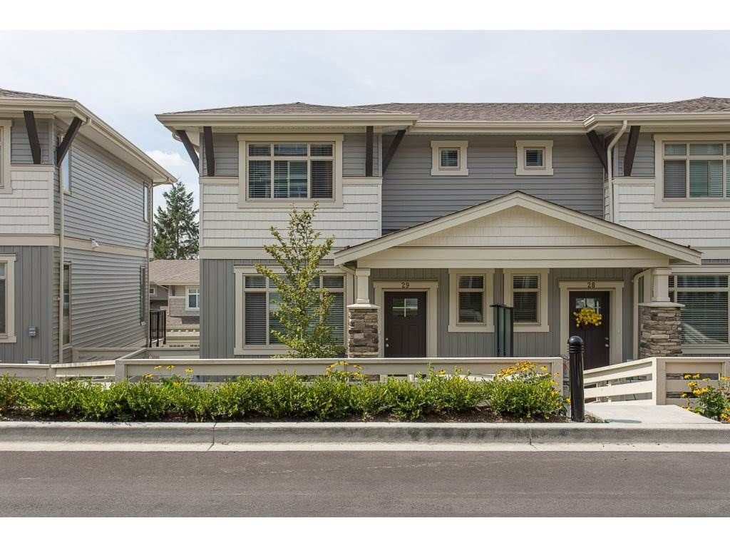 "Main Photo: 29 34230 ELMWOOD Drive in Abbotsford: Central Abbotsford Townhouse for sale in ""Ten Oaks"" : MLS®# R2196931"