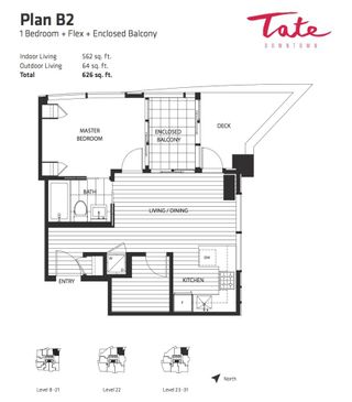 """Photo 3: 2702 1283 HOWE Street in Vancouver: Downtown VW Condo for sale in """"Tate"""" (Vancouver West)  : MLS®# R2276391"""