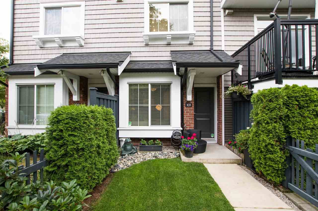 "Main Photo: 101 14833 61 Avenue in Surrey: Sullivan Station Townhouse for sale in ""ASHBURY HILL"" : MLS®# R2483129"