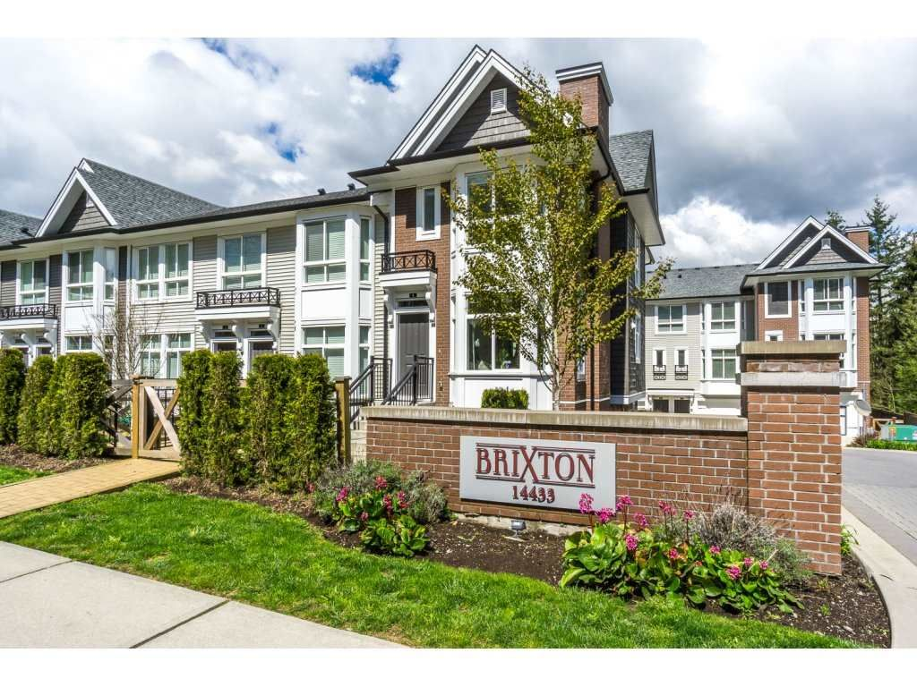 """Main Photo: 1 14433 60 Avenue in Surrey: Sullivan Station Townhouse for sale in """"Brixton"""" : MLS®# R2158472"""