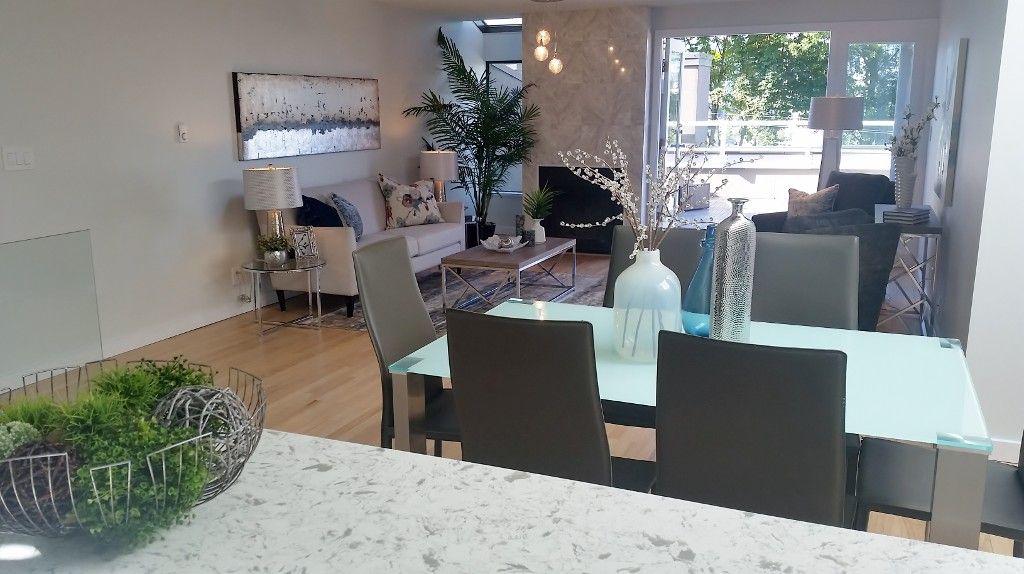 Kitchen, dining, living room, view deck (upper floor)