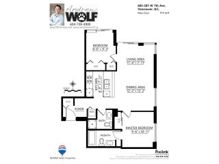 """Photo 10: 605 587 W 7TH Avenue in Vancouver: Fairview VW Condo for sale in """"THE AFFINITY"""" (Vancouver West)  : MLS®# V1117685"""