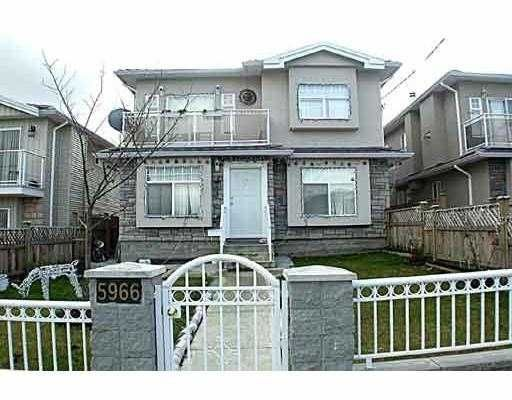 Main Photo: 5966 WOODSWORTH Street in Burnaby: Central BN 1/2 Duplex for sale (Burnaby North)  : MLS®# V619949
