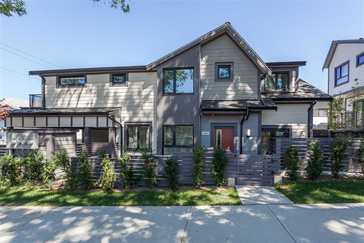 """Main Photo: 2293 E 37 Avenue in Vancouver: Victoria VE Townhouse for sale in """"GEORGE"""" (Vancouver East)  : MLS®# R2210885"""