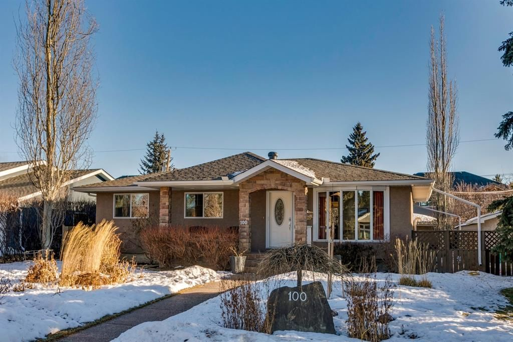 Main Photo: 100 Wedgewood Drive SW in Calgary: Wildwood Detached for sale : MLS®# A1062854