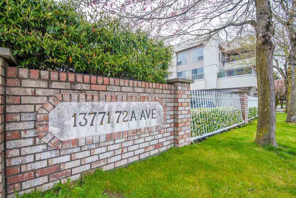 "Main Photo: 209 13771 72A Avenue in Surrey: East Newton Condo for sale in ""NEWTON PLAZA"" : MLS®# R2283500"