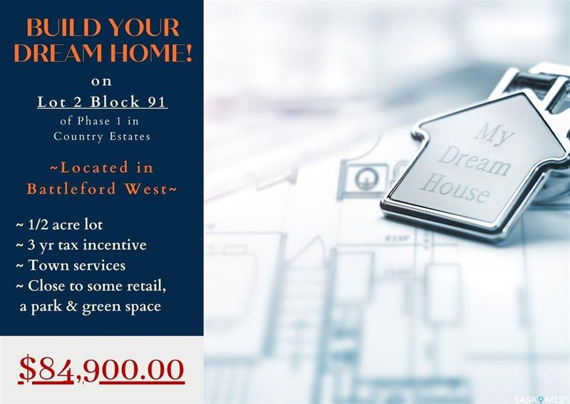 FEATURED LISTING: . - Lot 2 Blk 91 Country Estates Way Battleford