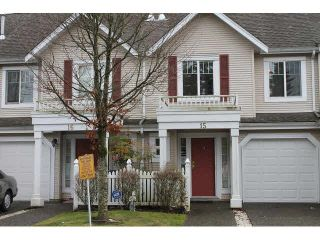"""Photo 1: 15 13499 92ND Avenue in Surrey: Queen Mary Park Surrey Townhouse for sale in """"CHATHAM LANE"""" : MLS®# F1431074"""