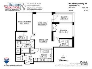 """Photo 19: 905 5868 AGRONOMY Road in Vancouver: University VW Condo for sale in """"SITKA"""" (Vancouver West)  : MLS®# V1133257"""