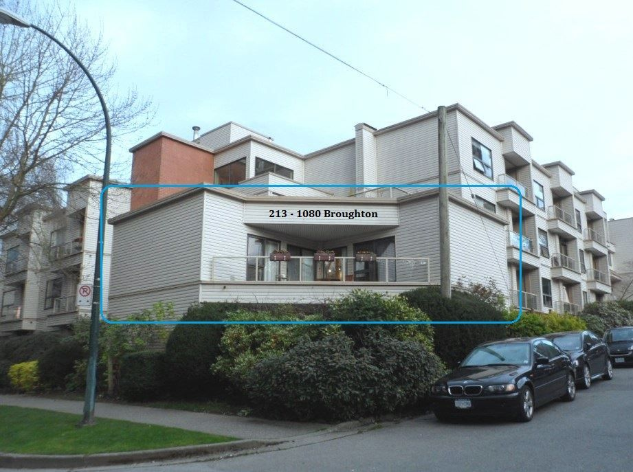 """Main Photo: 213 1080 BROUGHTON Street in Vancouver: West End VW Condo for sale in """"BROUGHTON TERRACE"""" (Vancouver West)  : MLS®# R2048988"""