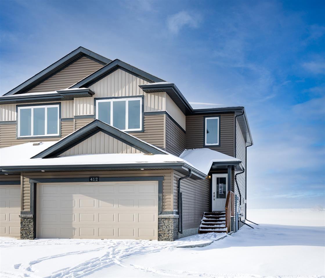 Main Photo: 411 Genesis Court: Stony Plain House Half Duplex for sale : MLS®# E4214186
