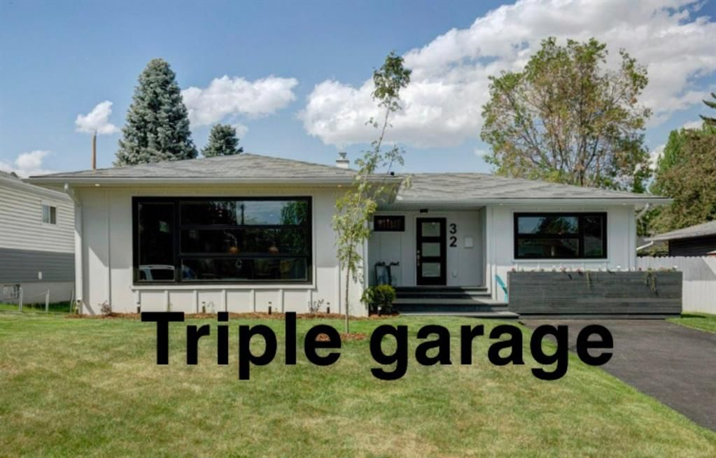 Modern curb appeal with new triple garage