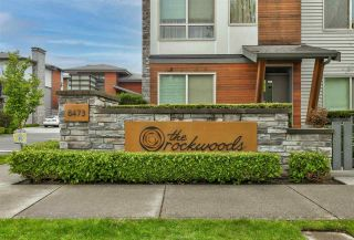 "Photo 1: 60 8473 163 Street in Surrey: Fleetwood Tynehead Townhouse for sale in ""ROCKWOODS"" : MLS®# R2574421"