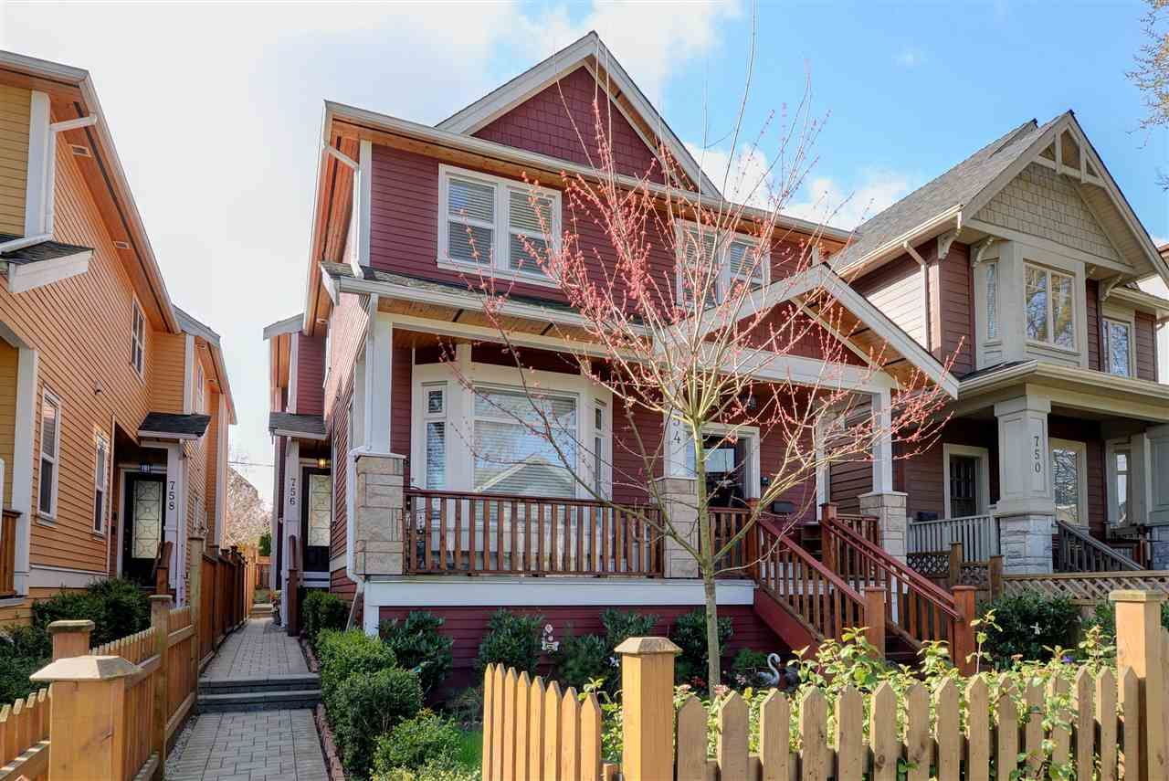 Main Photo: 756 E.12th Ave, in Vancouver: Mount Pleasant VE 1/2 Duplex for sale (Vancouver East)  : MLS®# R2252612