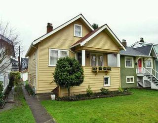 Photo 1: 3565 W 13TH Ave in Vancouver: Kitsilano House for sale (Vancouver West)  : MLS®# V631232