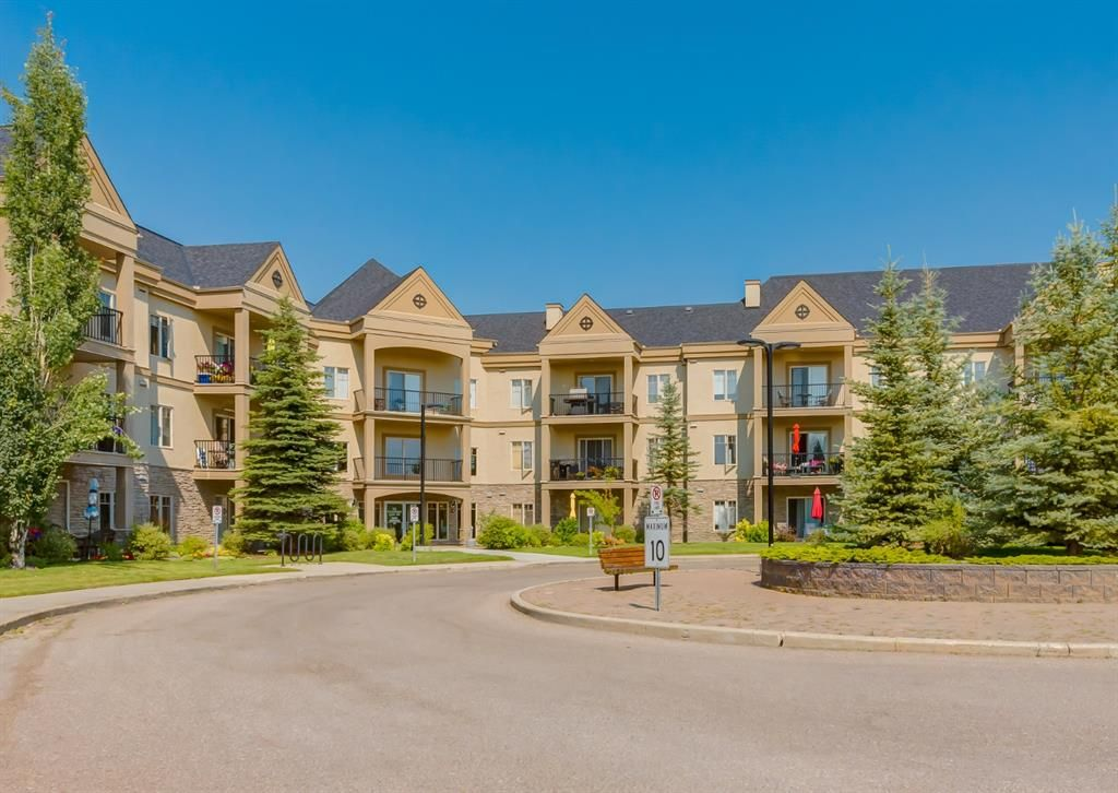 52 Cranfield Link S.E. Lovely location & beautifully kept grounds. The building has two elevators & amazing amenities.