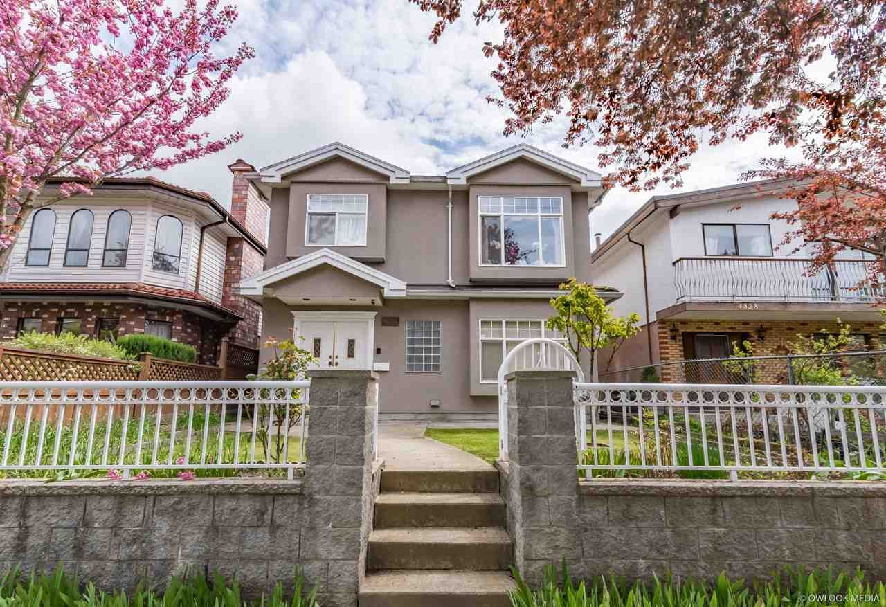 Main Photo: 4318 PRINCE ALBERT Street in Vancouver: Fraser VE House for sale (Vancouver East)  : MLS®# R2362384