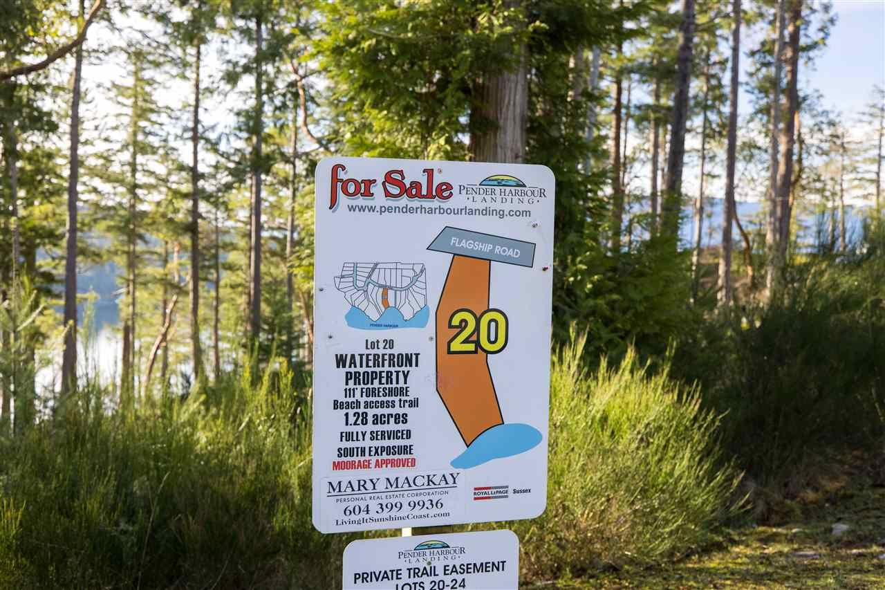 "Main Photo: Lot 20 FLAGSHIP Road in Garden Bay: Pender Harbour Egmont Land for sale in ""Pender Harbour Landing"" (Sunshine Coast)  : MLS®# R2525606"